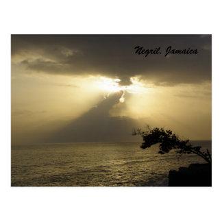 Sunset:Negril, Jamaica Postcard