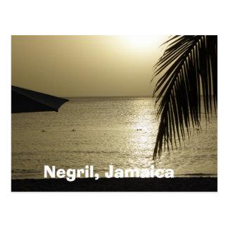 Sunset: Negril, Jamaica Postcard