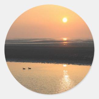 Sunset - New brighton Round Sticker