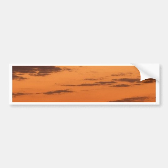 """""""Sunset New York Harbor and Statue of Liberty"""" Bumper Sticker"""