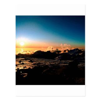 Sunset Nido Di Condores Aconcagua Argentina Postcard