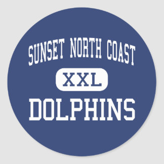 Sunset North Coast - Dolphins - High - Encinitas Classic Round Sticker