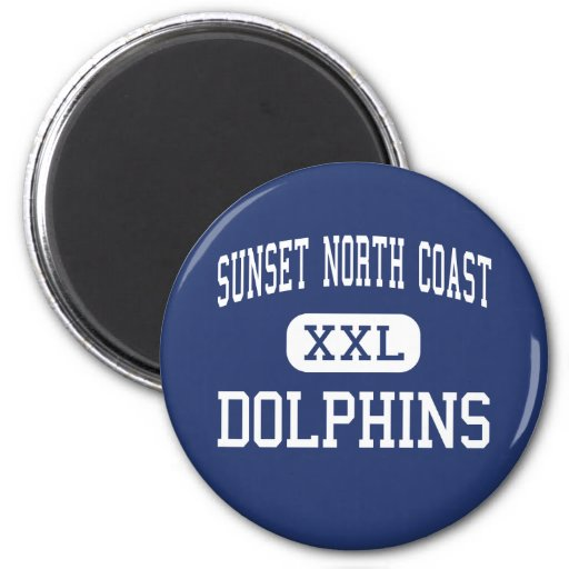 Sunset North Coast - Dolphins - High - Encinitas Fridge Magnets