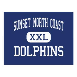 Sunset North Coast - Dolphins - High - Encinitas Postcards