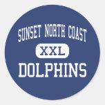 Sunset North Coast - Dolphins - High - Encinitas Classic Round Sticker