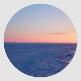Sunset Northern Plateau Round Sticker