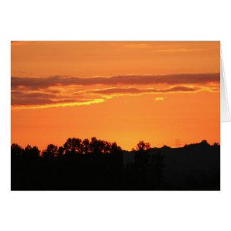 Sunset Notecard Card