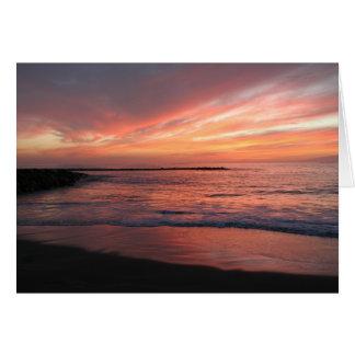 Sunset notecards card