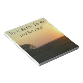 sunset notepad with Scripture