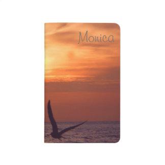 Sunset Ocean Horizon Pocket Journal *Personalize*