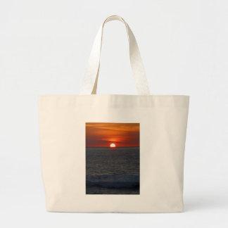 Sunset Ocean Jumbo Tote Bag