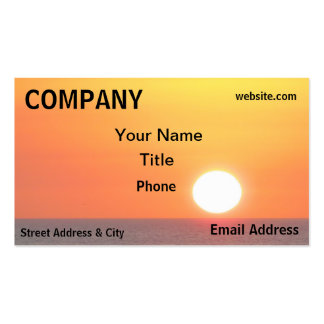 Sunset Ocean Orange Yellow Sea Double-Sided Standard Business Cards (Pack Of 100)
