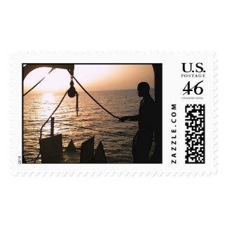 Sunset Ocean Stamp