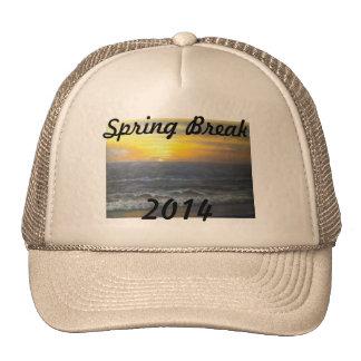"""""""SUNSET OCEAN SPRING BREAK 2014 HAT"""" TRUCKER HAT"""