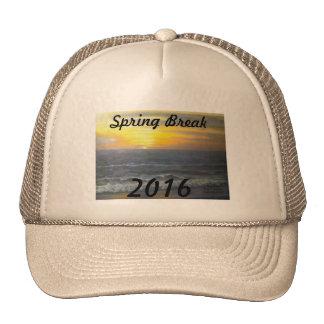 """""""SUNSET OCEAN SPRING BREAK 2016 HAT"""" TRUCKER HAT"""