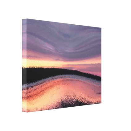 Sunset Ocean Wave Abstract Canvas Print
