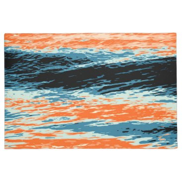Beach Themed Sunset/Ocean/Wave/Sea Doormat