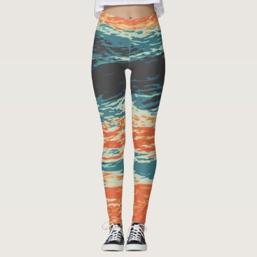 Beach Themed Sunset/Ocean/Wave/Sea Leggings