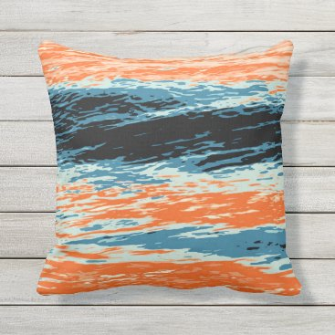 Beach Themed Sunset/Ocean/Wave/Sea Outdoor Pillow