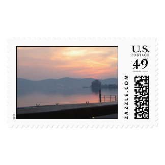 Sunset of LiHu Lake Postage