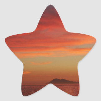 Sunset off the coast of Spain. Star Sticker