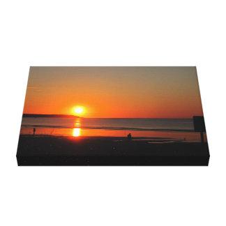 Sunset Old Orchard Beach Canvas