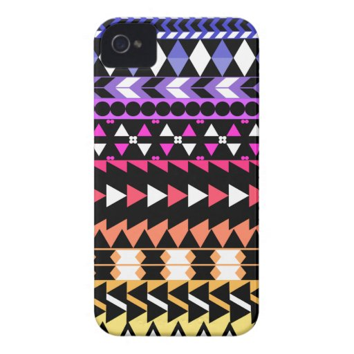Sunset Ombre Aztec Pattern iPhone 4 Case-Mate Case