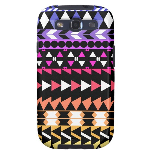 Sunset Ombre Aztec Pattern Galaxy SIII Cover