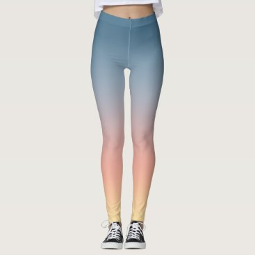 Beach Themed Sunset Ombre Gradient Leggings