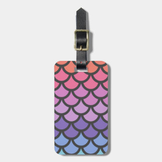 Sunset Ombre Mermaid Scales Bag Tag