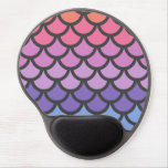Sunset Ombre Mermaid Scales Gel Mouse Pad