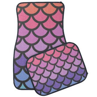 Sunset Ombre Mermaid Scales Floor Mat