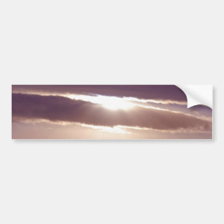 Sunset on a cloudy day bumper stickers