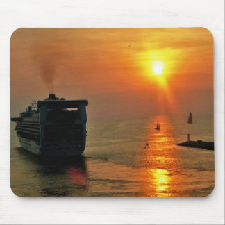 Sunset on  a Cruise Ship Mouse Pad