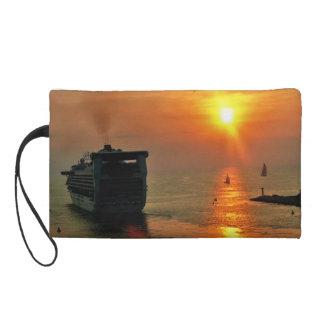 Sunset on  a Cruise Ship Wristlet