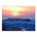 Sunset on a Frozen Great Lake Postcard