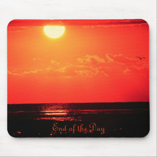 Sunset on a Golden Sea Mouse Pad