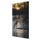 Sunset on a Lake Gallery Wrapped Canvas
