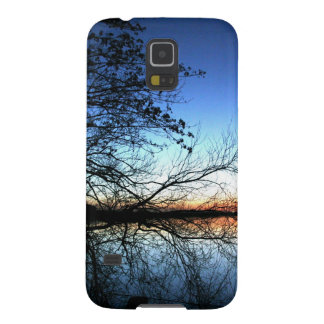 Sunset on a Lake with Tree Branch Silhouette Galaxy Nexus Covers
