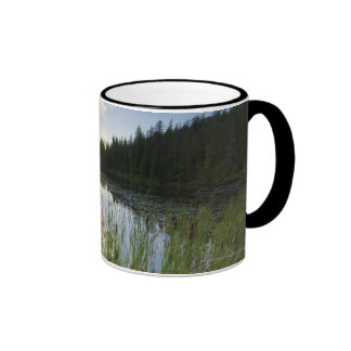 Sunset On A Small Lake Ringer Mug