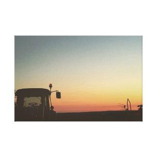 Sunset on a summer Evening Canvas Print