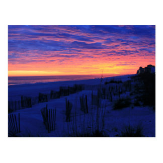 Sunset on Alabama's Beaches Post Card