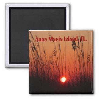 Sunset on Anna Maria Island, FL., magnet