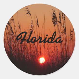Sunset on Anna Maria Island, Florida Round Stickers