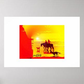 Sunset on Baja Poster