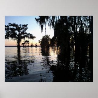Sunset on Bayou Black, Morgan City, Louisiana Posters