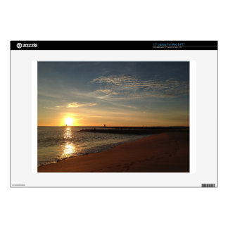"Sunset on Beach 15"" Laptop Decals"