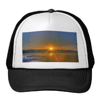 Sunset on Birch Lake Trucker Hat