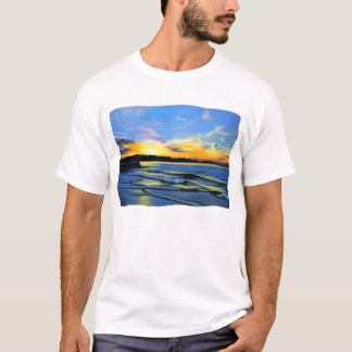sunset on cambridge beach T-Shirt