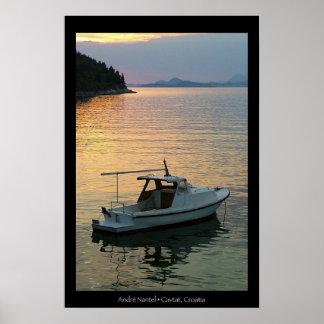 Sunset on Cavtat Bay Poster